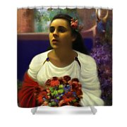 Priestess Of The Floral Temple Shower Curtain