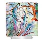 Primal Instinct Shower Curtain