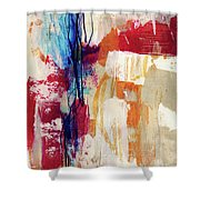 Primary 2- Abstract Art By Linda Woods Shower Curtain