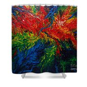 Primary Abstract II Shower Curtain