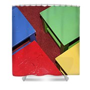 Primary Chairs Shower Curtain