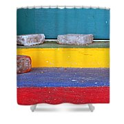 Primary Colored Doorstep Shower Curtain