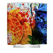 Primary Crystal Abstract Shower Curtain