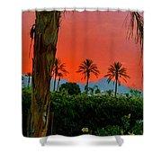 Primary Desert Sunset Shower Curtain