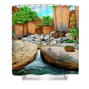 Primary Escape Route Shower Curtain