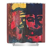 Primary Faces Shower Curtain