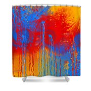 Primary Fluidity Shower Curtain