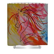 Primary Horse Shower Curtain