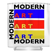 Primary Modern Shower Curtain