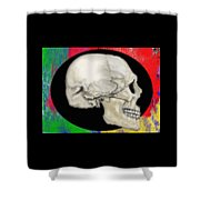 Primary Skull Shower Curtain