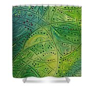Primitive Abstract 2 By Rafi Talby Shower Curtain