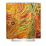 Primitive Abstract 3 By Rafi Talby Shower Curtain