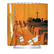 Primitive Church - Sunday Morning Shower Curtain