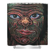 Primitive Man Shower Curtain