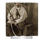 Primitive Man Shower Curtain