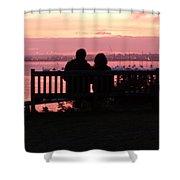 Evening Hill Sunset Shower Curtain