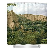 Prin Mountain Peaks Shower Curtain