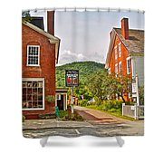 Prince And The Pauper Restaurant In Woodstock-vermont  Shower Curtain