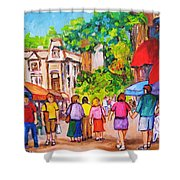 Prince Arthur Street Montreal Shower Curtain