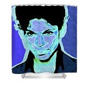 Prince Blue Nixo Shower Curtain