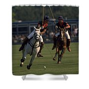Prince Charles Playing Polo Shower Curtain