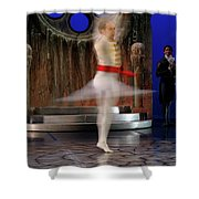 Prince Charming In Blurred Spin While Dancing In Ballet Jorgen P Shower Curtain