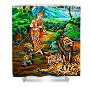 Prince In The Forest Of Life Shower Curtain