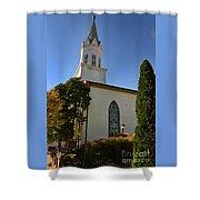 Prince Of Peace Catholic Church Madison Shower Curtain
