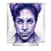 Prince Purple Watercolor Shower Curtain