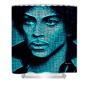 Prince - Tribute In Blue Shower Curtain