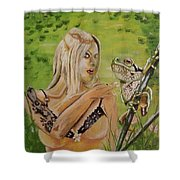 Princess And Frog Shower Curtain