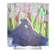 Princess In The Forest Shower Curtain