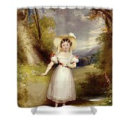 Princess Victoria Aged Nine Shower Curtain by Stephen Catterson the Elder Smith