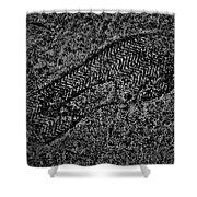 Print On Concrete Shower Curtain