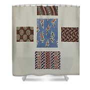 Printed Cotton Shower Curtain