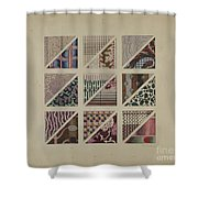 Printed Delaines Shower Curtain