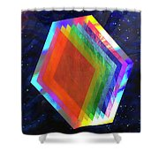 Prismatic Dimensions Shower Curtain