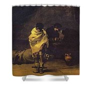 Prison Scene Francisco Jose De Goya Y Lucientes Shower Curtain