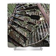 Prison Spiral Staircase Shower Curtain