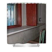 Prison Visitation Phones  Shower Curtain
