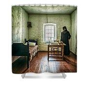 Prisoner In Jail Shower Curtain