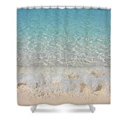 Pristine Beach At Half Moon Cay Shower Curtain