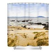 Pristine Beach Background Shower Curtain