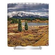 Pristine Mountain Lake Shower Curtain
