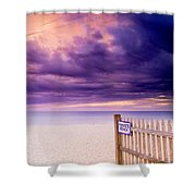 Private Beach Cape Cod Shower Curtain