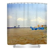 Private Beach Shower Curtain