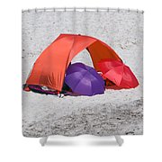 Private Beach For Two Shower Curtain