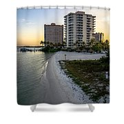 Private Beach Shower Curtain