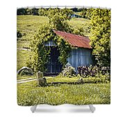 Private Covered Bridge Shower Curtain