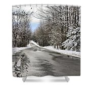 Private Country Road Shower Curtain
